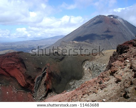 Red Crater - stock photo