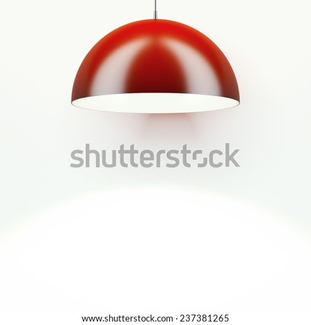 Red Lamp - stock photo