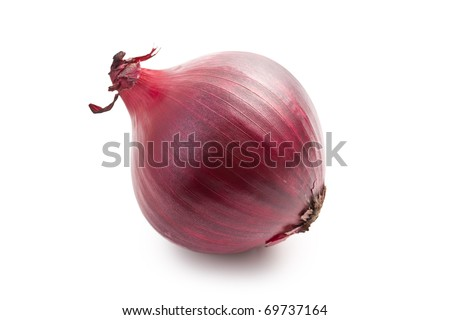 red onion isolated - stock photo