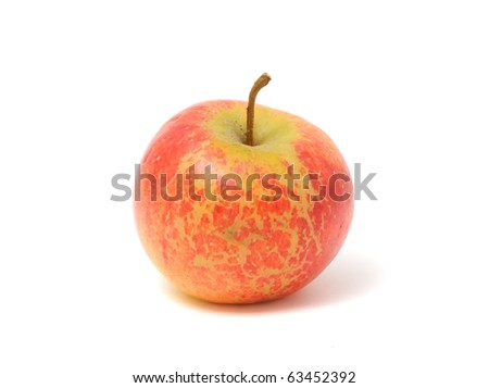Red Organic Apple Isolated on White Background