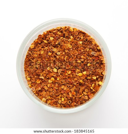 red pepper flakes - stock photo