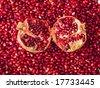 red pomegranate - stock photo