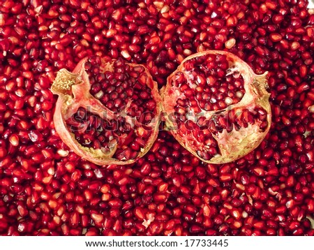 red pomegranate - stock photo