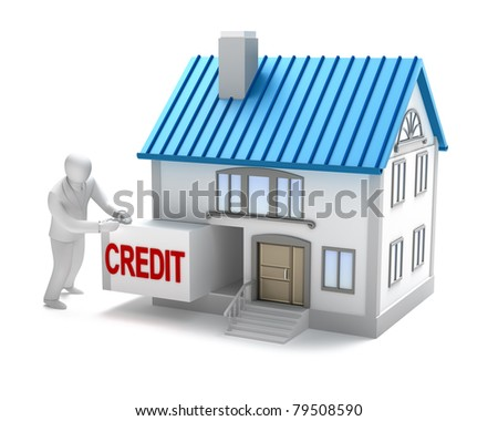 ?redit for real estate, isolated 3D concept - stock photo