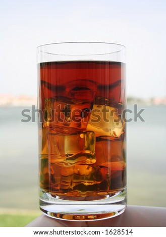 Refreshing  summer drink - stock photo