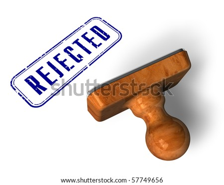 """""""Rejected"""" stamp - stock photo"""