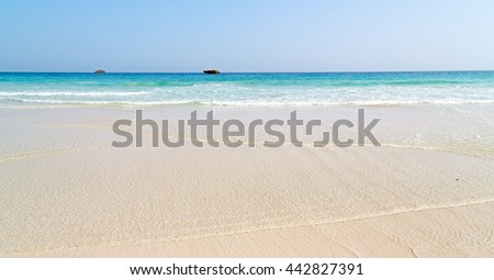 relax near sky in oman coastline sea ocean  gulf rock and beach