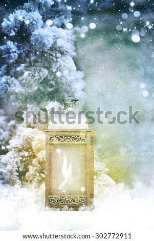 Retro christmas decoration  - stock photo
