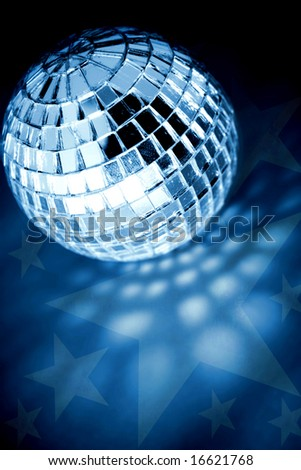 retro disco ball - stock photo