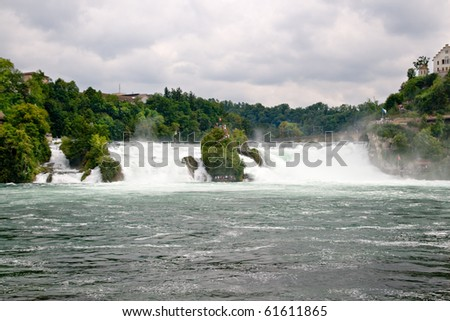 Rhine waterfalls in Switzerland