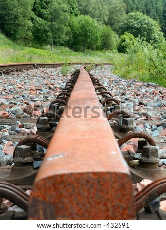 """Riccarton Junction"" disused railway junction in the Scottish Borders, UK - stock photo"