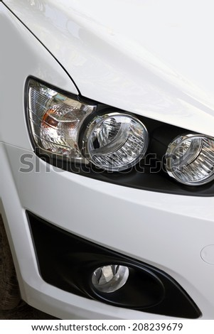 right headlight of a car