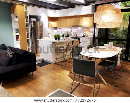 "RISHON LE ZION, ISRAEL- DECEMBER 16, 2017: Interior furniture store ""Ikea"" in Rishon Le Zion, Israel. Founded in Sweden in 1943 Ikea is the world's largest furniture retailer."