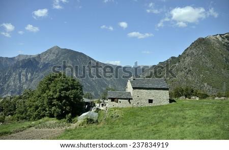 Road through Andorra   - stock photo