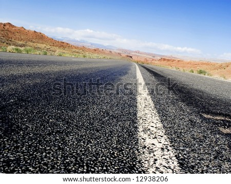 road to vegas - stock photo