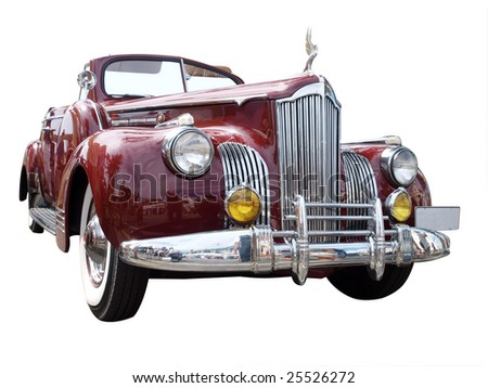 1941 Roadster isolated with clipping path - stock photo