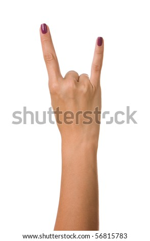 """Rock on"" on pure white background"
