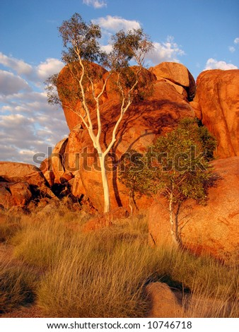 Rocks - Central Australia - stock photo