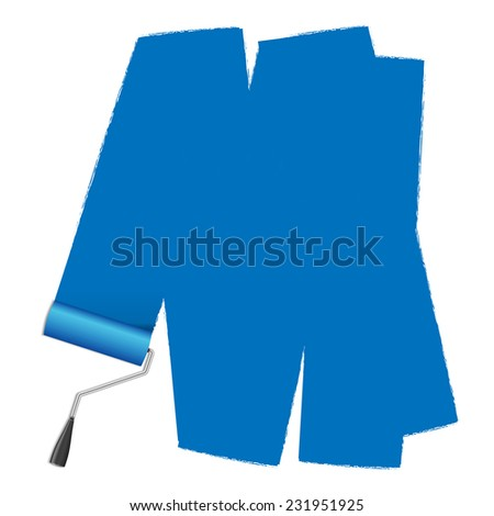 roller brush for text - stock photo