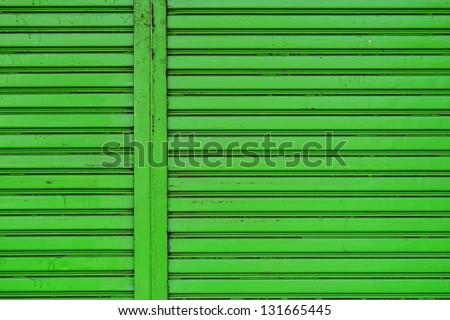 roller shutter steel door - stock photo
