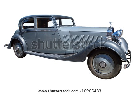 1934 Rolls Royce isolated with clipping path - stock photo