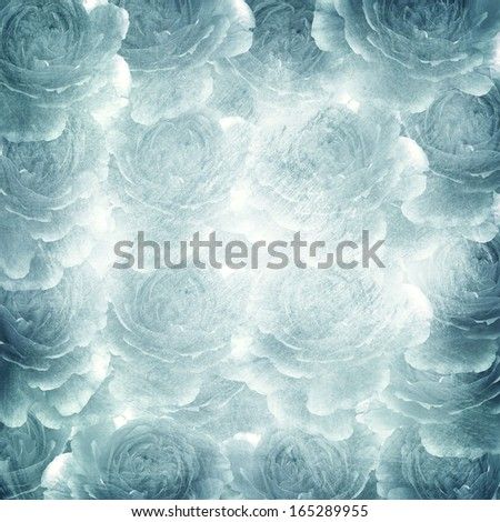 romantic background with roses  - stock photo