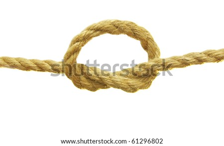 rope with a knot - stock photo