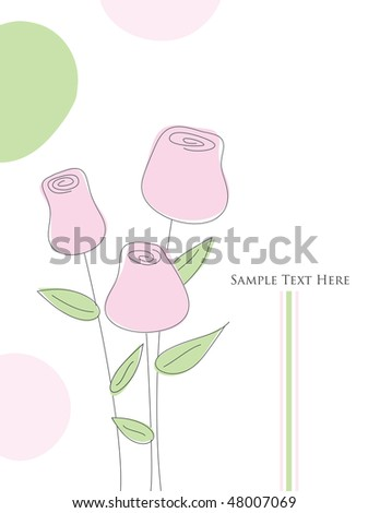 3 Roses Art - stock photo