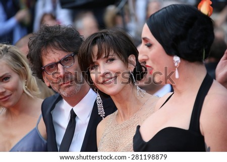 Rossy de Palma,  Joel Coen, Sophie Marceau   attend the closing ceremony during the 68th annual Cannes Film Festival on May 24, 2015 in Cannes, France. - stock photo