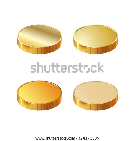 4 round gold coins. Photo illustration.