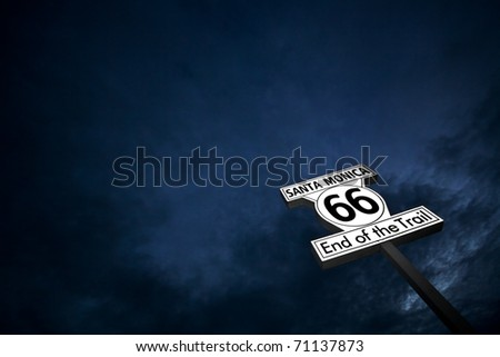 """Route 66"" End of the trail - Santa monica - stock photo"
