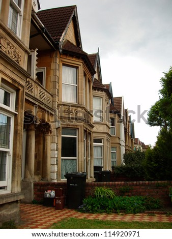 Rowhouse in Bristol, UK - stock photo