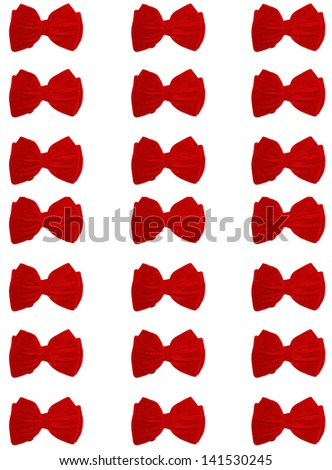 3 rows of small bow ties - stock photo
