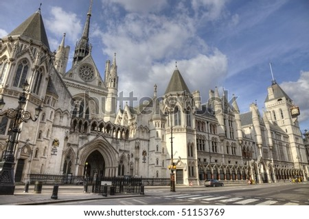 Royal Courts of Justice in London England