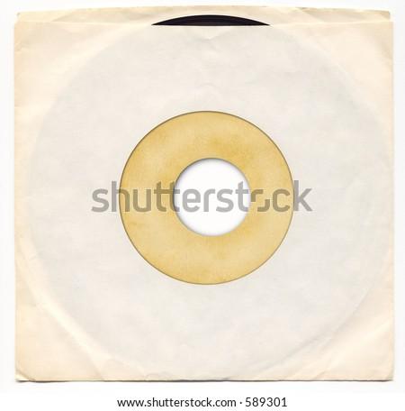 45rpm Vinyl Record in Sleeve. - stock photo