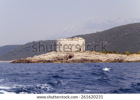 ruins of the fortress located in the territory of Montenegro - stock photo