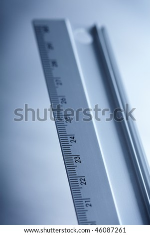 ruler detail with little shallow depth of field - stock photo