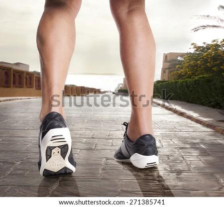 running. - stock photo
