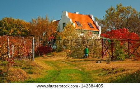 Rural house in autumn