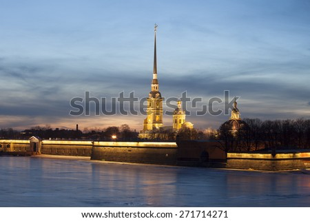 23.02.15 Russia. St. Petersburg. View of the Peter and Paul Fortress