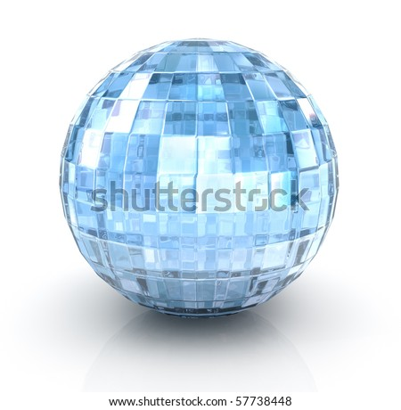 Ð¡rystal ball on white background