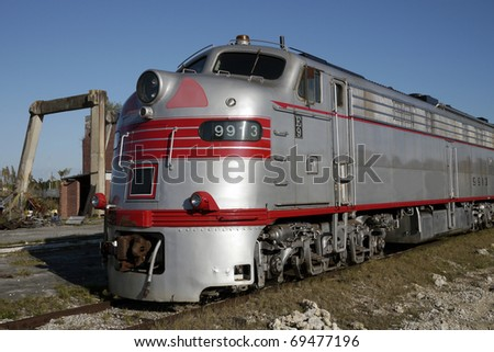 1940s American built  Diesel Electric Locomotive model e9. Very advanced for its time having revolutionize train travel in the USA. - stock photo