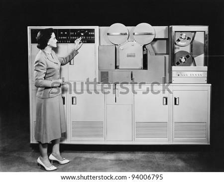 1950's COMPUTER - stock photo