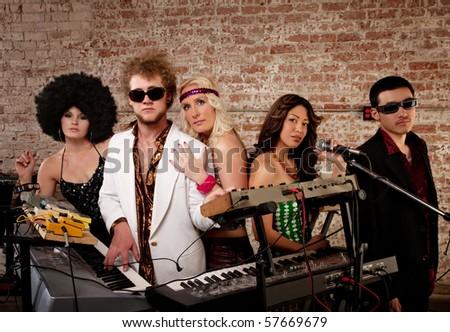 1970s Disco Music Party - stock photo