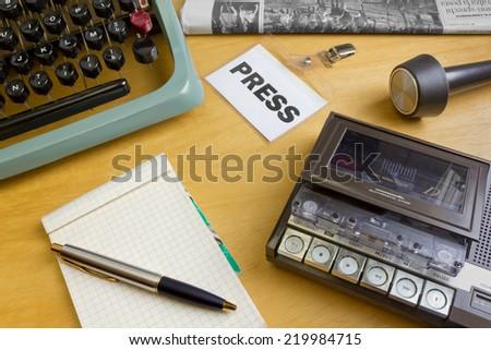1980s Journalist's Desk - stock photo