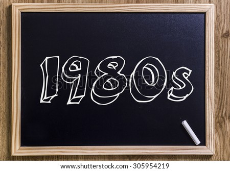 1980s - New chalkboard with outlined text - on wood
