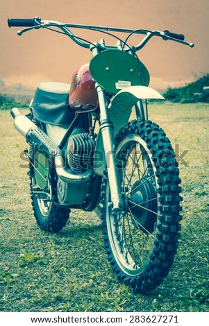 70's off-road motorbike - stock photo