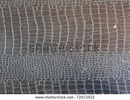 1950s - 60s crocodile pattern embossed vintage paper texture. - stock photo