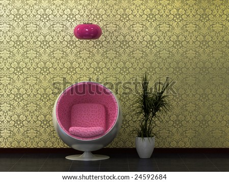 60's Sixties retro revival kitsch. - stock photo