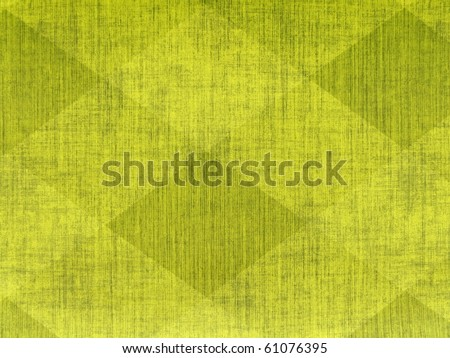 80s style vibrant psychedelic diamond geometric abstract rough scratched neon yellow green colors damask scrapbook paper wall grunge grungy emo concrete texture close up. More decors in my port. - stock photo